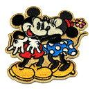 ミッキーマウスミニーマウスワッペンキス柄アイロン接着タイプディズニーミッキーミニーミニーちゃんアメリカ雑貨アメリカン雑貨キャラクターディズニーグッズ