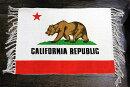 カリフォルニア州旗柄★フロアマット・玄関マットサイズ・約70×50センチ★綿100%★【あす楽対応_関東】【あす楽対応_近畿】