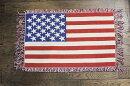 星条旗柄がグッド★星条旗柄のフロアマット★約74×45センチ★お部屋をアメリカンに!