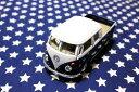 ワーゲンバス ミニカー プルバックカー 63年式 ダブルキャブ Bus Double Cab Pickup ネイビー アメリカ 雑貨 クルマ 模型 フォルクスワーゲン 置き物 玩具 ガレージ 店舗 カフェ バー インテリア ミニカー