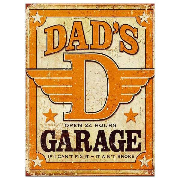 パパのガレージDAD'SGARAGEレトロ調アメリカンブリキ看板アメリカブリキ看板アメリカン雑貨アメリカ雑貨サインプレートサイン