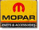 MOPAR★64〜71年ロゴ★レトロ調★アメリカンブリキ看板
