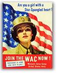 アメリカンブリキ看板 アメリカ陸軍 婦人陸軍部隊 JOIN THE WAC NOW! アメリカ ブリキ看板 アメリカン雑貨 アメリカ雑貨 サインプレート サインボード ティンサイン メタルプレート おしゃれ カフェ バー 店舗 ガレージ インテリア ブリキ 看板