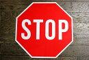 【送料無料】STOP★ストップ・約46×46センチ★アメリカの交通標識★トラフィックサイン★アメリカン雑貨アメリカ雑貨サインプレートサインボードメタルプレートガレージインテリアブリキ看板大型看板