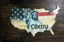 【送料無料】アメリカ&自由の女神★星条旗柄・スチール製看板★アメリカブリキ看板アメリカン雑貨アメリカ雑貨サインプレートサインボードティンサインメタルプレートガレージポスター看板