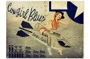 ピンナップガール★ノーズアートシリーズ・CowgirlBlues★エナメル加工・当店激レア評価★アメリカンブリキ看板★アメリカンブリキ看板★アメリカブリキ看板アメリカン雑貨アメリカ雑貨サインプレートサインボードティンサインメタルプレート
