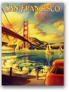 【アメリカ雑貨】サンフランシスコ★ゴールデンゲートブリッジ・古き良き時代の風景★アメリカ...
