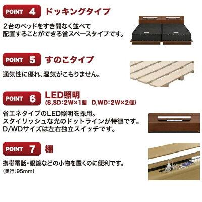 Granz(グランツ)シングルベッドティノS棚タイプヘッドボード2色対応:WH色・BR色小物を置くのに便利な棚付(3タイプ有り)2口コンセント付床面高4段階調整可能マット別