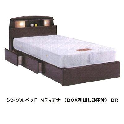 シングルベッドポルシェ宮付、LEDライト付、2口コンセント付2色対応(ホワイト/ブラック)MDFエナメル塗装(WH:鏡面、BK:つや消し)(マット別)