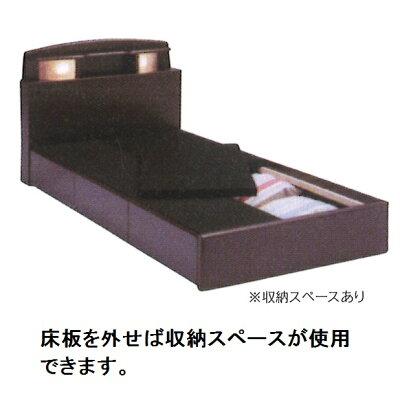 シングルベッドNティアナBOXタイプ2色対応(NA・BR)床板:布張り材質:MDF・強化シートライト付、コンセント付引出し3杯スライドレール付マット別要在庫確認
