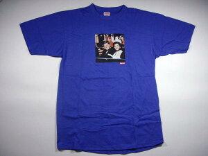 SUPREMEのJFK Tシャツシュプリーム Supreme ケネディ JFK フォト BOX ロゴTシャツ 青