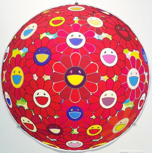 村上隆 300枚 限定ポスター Red Flower Ball(3-D), 2013」 カイカイキキ kaikaikiki TAKASHI ...