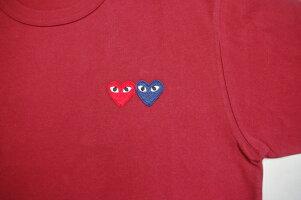 COMMEdesGARCONSコムデギャルソンダブルハートワンポイント刺繍Tシャツ