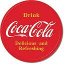 1658Coke Button LogoCoca Cola コカコーラ コーク ロゴアメリカン雑貨 ブリキ看板Tin Sign ティンサイン3枚以上で送料無料!