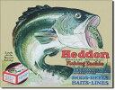 1005Heddon ヘドンルアー ブラックバスアメリカン雑貨 ブリキ看板Tin Sign ティンサイン3枚以上で送料無料!