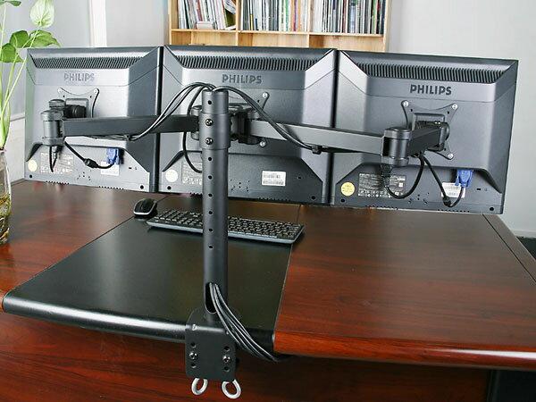 【楽天市場】【pc用】液晶 モニターアーム トリプルモニター 3モニター モニタースタンド 10軸式モデル 3画面