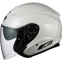 【ヘルメット】OGKASAGIパールホワイトPEARLWHITEMサイズオージーケーカブトアサギオープンフェイス
