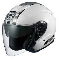 ヘルメットOGKASAGISPEEDホワイトWHITE白Mサイズオープンフェイスオージーケーアサギスピード
