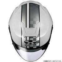 【ヘルメット】OGKASAGISPEEDホワイトWHITE白Mサイズオープンフェイスオージーケーアサギスピード