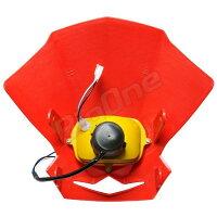 【ヘッドライト】EUヘットライトカウル赤CRM250ARFT400CTX200TL125SL230TLM200RXRBAJAXLR250RAX-1FTR250XR100モタードCR125RXL250SXR50XR400モタードXR230XL250RパリダカXLR125RCRF70FXR250XLR80RCRF250XTLR200XR400RXR230モタード