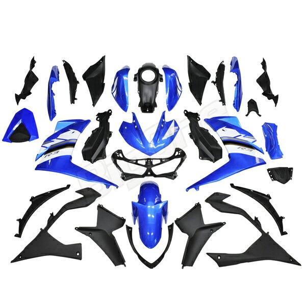 【訳あり】【カウル セット】 YZF-R3 EBL-RH07J YZFR3 R3 青/白 外装セット カウル 外装 フェンダー フロントフェンダー フロントカウル サイドカウル インナーカウル インナーカバー ブルー ホワイト【新品未使用】