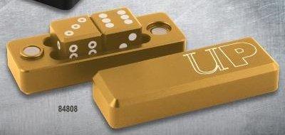 グラビティダイス6面体-2個セット/金