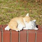 ☆12月7日再入荷☆ アニマル べニーズキャット QY-82 27cm ジャレ合い中の可愛いネコちゃん! おしゃれなオブジェ オーナメント ねこグッズ 猫 インテリア 庭 玄関先 ガーデニング ガーデン 雑貨 ナチュラル雑貨