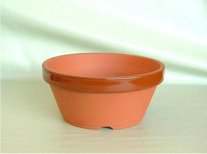 駄温鉢〈駄鉢〉 浅型 3号 陶器鉢 *国産植木鉢* 常滑 素焼き鉢 陶器鉢 テラコッタ 盆栽 山野草 園芸 ガーデニング