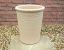 ☆バラに最適な白い鉢☆ マジョルカ 26cm 人気のスペイン製 テラコッタ 植木鉢 素焼き鉢 洋風ガーデン 園芸 ガーデニング 陶器鉢