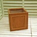 【軽くて移動ラクラク!】 ファイバークレイ 植木鉢 ステップボックス 27cm STF9005 Dブラウン色 アンティークテラコッタ風 園芸 ガーデニングおしゃれ
