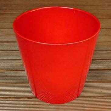 ドイツ製 鉢カバー(6号鉢用) ダラス レッド 21cm ハイドロカルチャー(水耕栽培)に最適な植木鉢(容器) おしゃれ 陶器鉢 Soendgen KeramiK社製 観葉植物・ シクラメンに