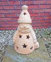 ☆庭作りに☆スノーマン 40cm 穏やかで可愛らしい笑顔が心を癒してくれます。 テラコッタ製 素焼き 陶器製 置物 オーナメント 人形 洋風ガーデン 輸入雑貨 ガーデニンググッズ おしゃれ 園芸用品