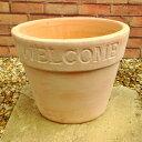WELCOMEな植木鉢 ウェルカムポット 31(27cm) NC1012 ヨーロピアンなテラコッタ 植木鉢 おしゃれ 陶器鉢 ベトナム鉢 素焼き鉢 園芸 ガーデニング