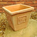 植木鉢 パピヨンポット 24cm NC1357 ワンポイントのチョウが可愛い植木鉢 ヨーロピアンなテラコッタ おしゃれ 陶器鉢 ベトナム鉢 素焼き鉢 園芸 ガーデニング