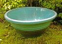 睡蓮鉢『匠』水色-正面より