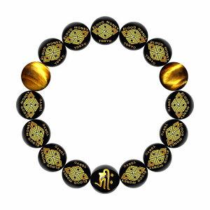 eb5b10b21b 数珠 ブレスレット オラオラ系 数珠ブレスレット ヤクザ ヤンキー 太め14mm 菱 虎目石(タイガー