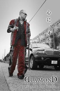 長袖セットアップオラオラ系悪羅悪羅系ヤクザヤンキーオラオラ悪羅悪羅dj-021赤蛇柄ヘビ切替クロコパイソン総柄