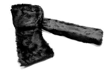 ファーマフラー 黒 オラオラ系 悪羅悪羅系 ヤクザ ヤンキー チョイ悪 チョイワル 派手 メンズ ファッション