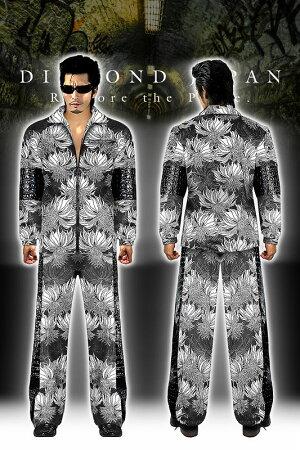 (10月末頃入荷予定)長袖切替セットアップジャージヤクザヤンキーオラオラ悪羅悪羅オラオラ系メンズ上下服dj-042花柄総柄