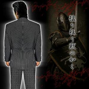 ダブルスーツオラオラ系悪羅悪羅系ヤクザヤンキーオラオラ悪羅悪羅dj-su002黒×白ストライプ