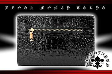ツヤありクロコ革PUセカンドバッグ 鞄 黒 オラオラ系 悪羅悪羅系 ヤクザ ヤンキー チョイ悪 チョイワル 派手 メンズ ファッション