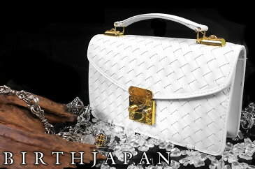 セカンドバッグ オラオラ系 ヤクザ ヤンキー メンズ ファッション 鞄 64白 格子柄 小物 編みこみあみこみ ちょいワル 悪羅悪羅系