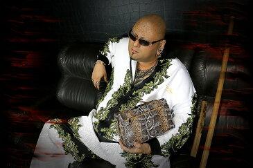 蛇柄PUセカンドバッグ 鞄 008 茶 オラオラ系 悪羅悪羅系 ヤクザ ヤンキー チョイ悪 チョイワル 派手 メンズ ファッション