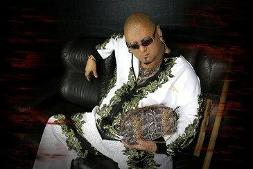 チェーン付き 蛇革PUセカンドバッグ 鞄 15015 茶 オラオラ系 悪羅悪羅系 ヤクザ ヤンキー チョイ悪 チョイワル 派手 メンズ ファッション