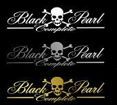 BLACK-PEARL〜complete〜ロゴステッカーホワイト大