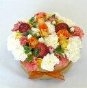 フラワーケーキ/オレンジ&アップル 【ケーキフラワー】【誕生日】【結婚祝い】【送料無料!】【smtb-tk】