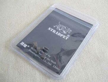 新素材を採用!STRADPET・ストラドペット / バイオリン・ビオラ用ブリッジクリップ チタニウム製 titanium Bridge Clip in gun grey 4 in 1 package