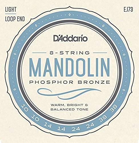 弦楽器, マンドリン DAddario EJ73 Mandolin Family Mandolin Strings, Phosphor Bronze, Light, 10-38 4