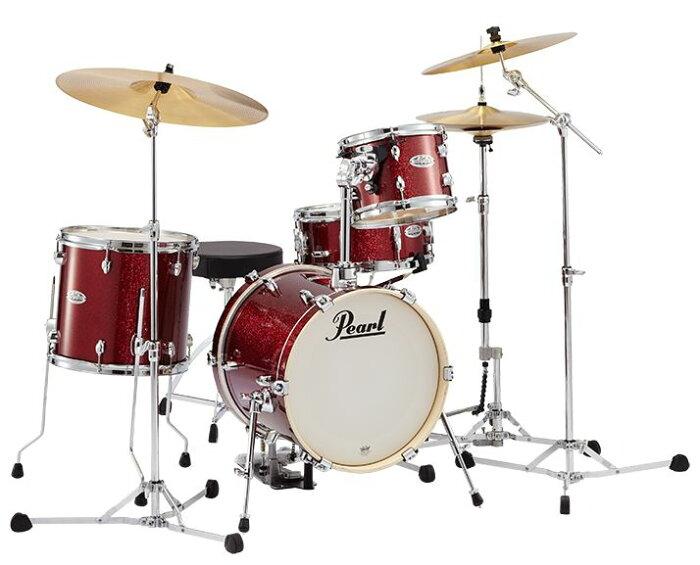 Pearl パール / MIDTOWN ミッドタウン・ブラックチェリーグリッター MDT704/C No.701・小口径ドラムセット【smtb-tk】