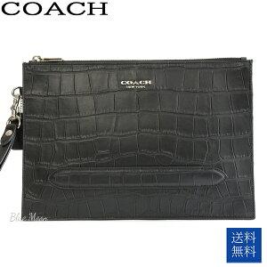 コーチ COACH セカンドバッグ メンズ クラッチバッグ 本革 アウトレット ブラック 黒 F73151 QB/BK